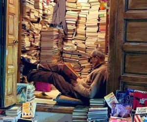 book, books, and old man image