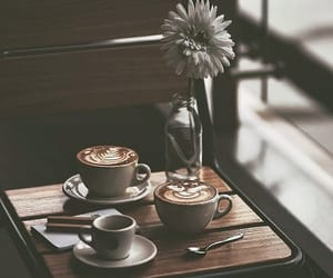 aesthetic, brown, and cafe image