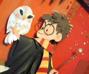 harry potter, owl, and cute image