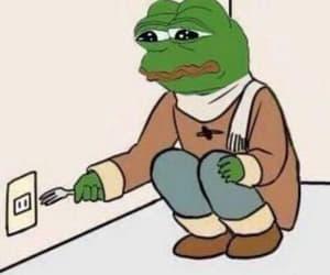 meme, pepe, and pepe the frog image