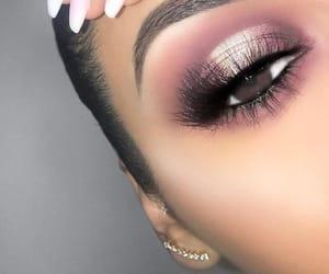earring, eyebrow, and eyelash image