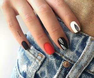 nail art&denim image