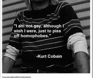 bisexual, gay, and kurt cobain image