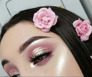 aesthetic, highlights, and eyes makeup image