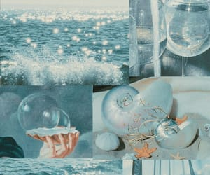 aesthetic, blue, and mermaid image