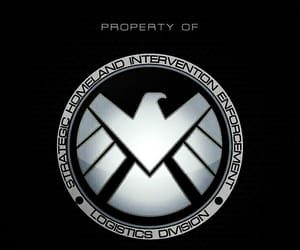 Marvel, shield, and wallpaper image