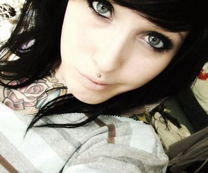 eyes, girl, and piercing image