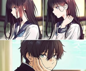 hyouka, anime, and couple image