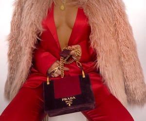 red, fashion, and Prada image