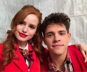 casey cott, riverdale, and cheryl blossom image