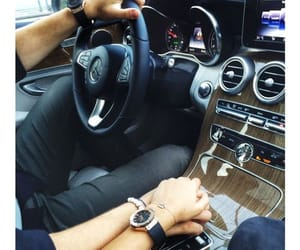 car, couple, and mercedes image