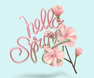 hello, spring, and april image