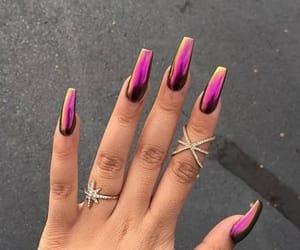nails, beauty, and metallic image