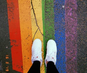color, rainbow, and sneakers image