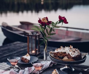 cake, delicious, and picnic image