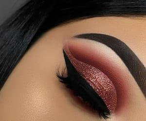 eyes make up, glitter, and make up image