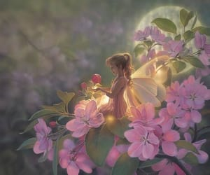 fantasy, flowers, and pink image