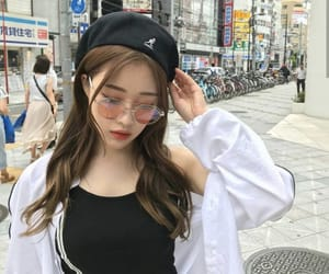 aesthetic, girl, and korean image