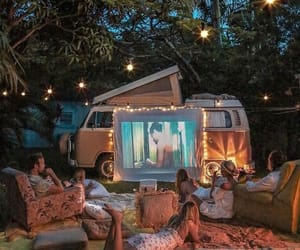 evening, movie, and friends image