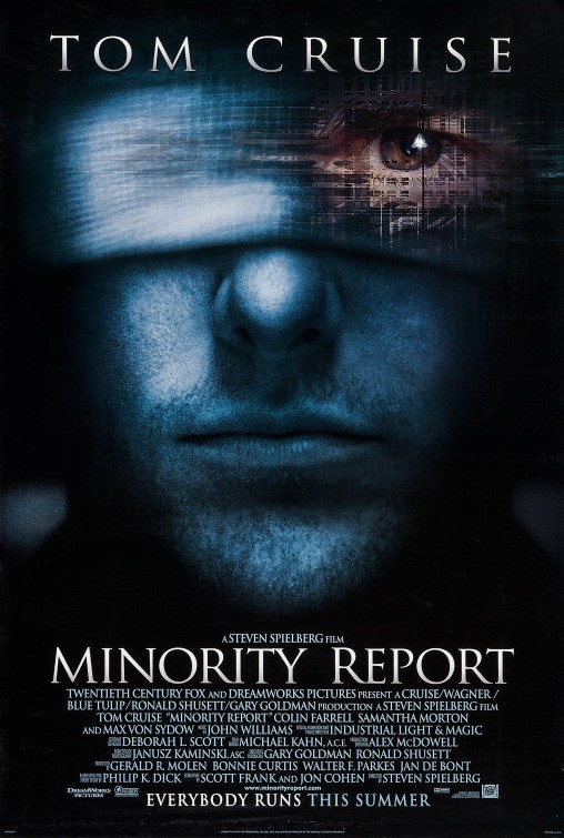 colin farrell, movie poster, and minority report image