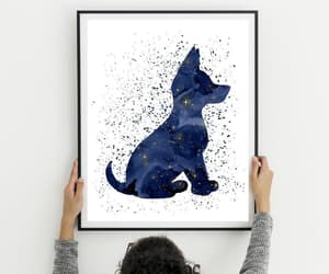 etsy, blue watercolor, and baby shower gift image