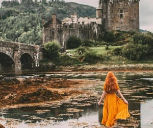 castle, girl, and magic image