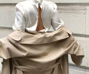 beige, gold, and outfit image
