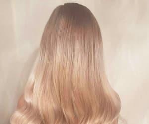blonde hair, long hair, and gold hair image
