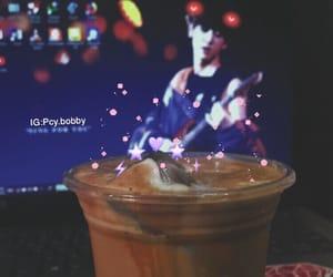 coffee, milk, and chanyeol image