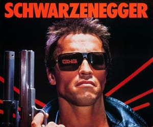 the terminator, linda hamilton, and arnold schwarzeneger image