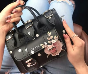 bag, black, and nails image