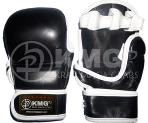 boxing gloves, mma shorts, and punching bags image