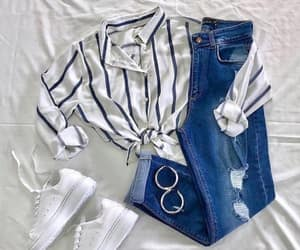 beauty, jeans, and casual image