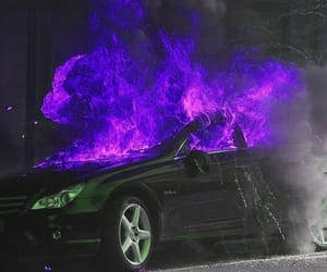 fire, aesthetic, and car image