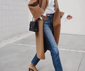 fashion, camel coat, and styleblogger image