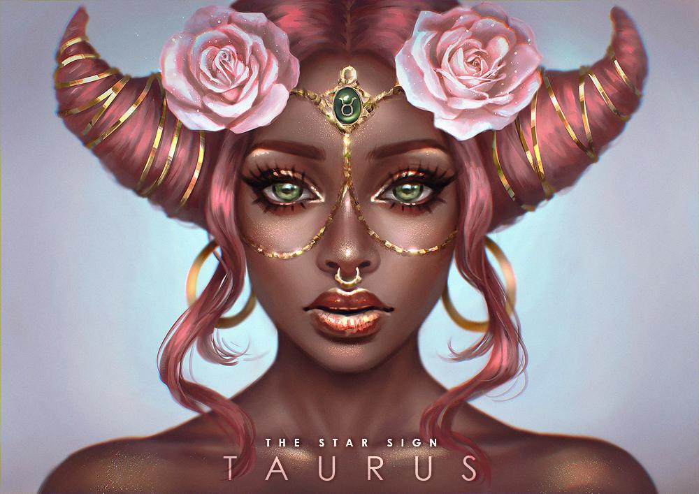 taurus, art, and zodiac image
