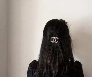 chanel, black, and hair image