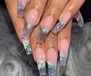 nails, beauty, and acrylic image