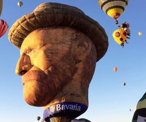 fig, hot air balloon, and sky image
