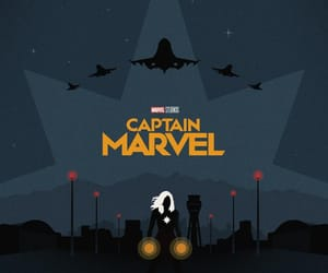 Marvel, wallpaper, and captain marvel image