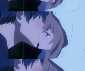 toradora, anime, and kiss image