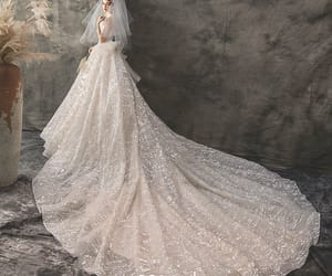 bridal, bride, and bridal gown image