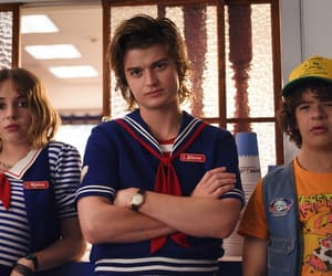 stranger things, steve harrington, and robin image