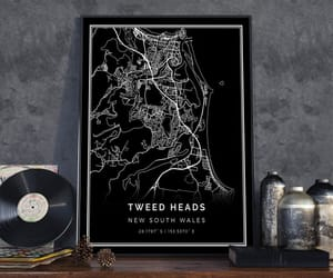 etsy, city poster, and black print image