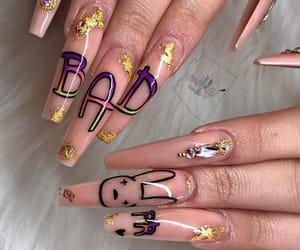 nails and bad bunny image