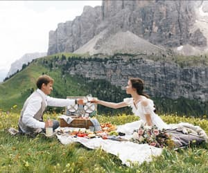 picnic couple romantic image