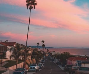 sky, beach, and california image