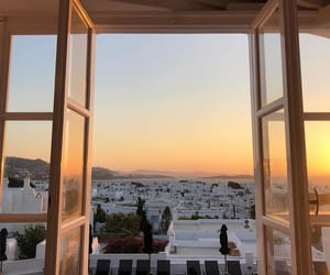 mykonos, photographie, and sunset image