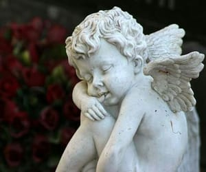 angel, antique, and art image