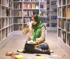 books and girl image